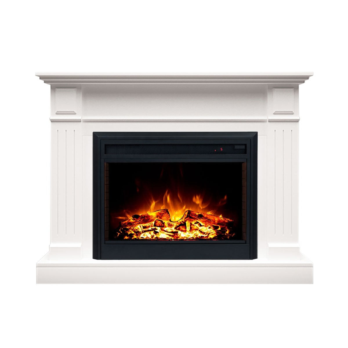"""Berwick 2000W Electric Fireplace Heater Mantel Suite with 30"""" Moonlight Insert"""