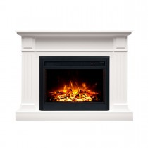 "Berwick 2000W Electric Fireplace Heater Mantel Suite with 30"" Moonlight Insert"