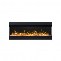 Zevoko 1600W 3 Sided 43 Inch Recessed / Wall Mounted Electric Fireplace