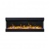 Zevoko 1600W 3 Sided 50 Inch Recessed / Wall Mounted Electric Fireplace