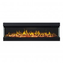 Zevoko 1600W 3 Sided 60 Inch Recessed / Wall Mounted Electric Fireplace