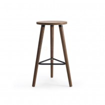 Villa Vintage Wooden Bar Stools - Solid Wood