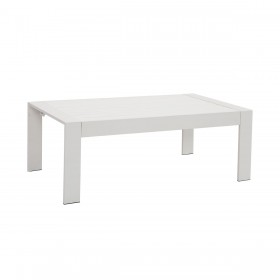 Paris White Aluminium Outdoor Coffee Table with Polywood Top
